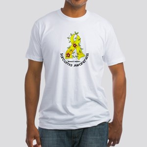 Flower Ribbon SARCOMA Fitted T-Shirt
