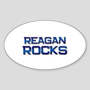 reagan rocks Oval Sticker