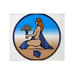 Virgo Zodiac Astrological Art Throw Blanket