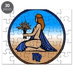 Virgo Zodiac Astrological Art Puzzle