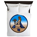 Virgo Zodiac Astrological Art Queen Duvet