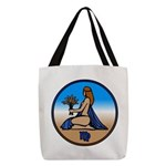 Virgo Zodiac Astrological Art Polyester Tote Bag