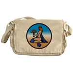 Virgo Zodiac Astrological Art Messenger Bag
