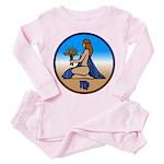 Virgo Zodiac Astrological Art Toddler Pink Pajamas