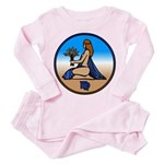 Virgo Zodiac Astrological Art Toddler Pink Pajamas