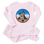 Virgo Zodiac Astrological Art Baby Pink Pajamas