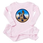 Virgo Zodiac Astrological Art Baby Pink Pajamas