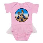 Virgo Zodiac Astrological Art Baby Tutu Bodysuit