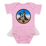 Virgo Zodiac Astrological Art Baby Tutu Bodysuit