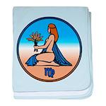 Virgo Zodiac Astrological Art baby blanket