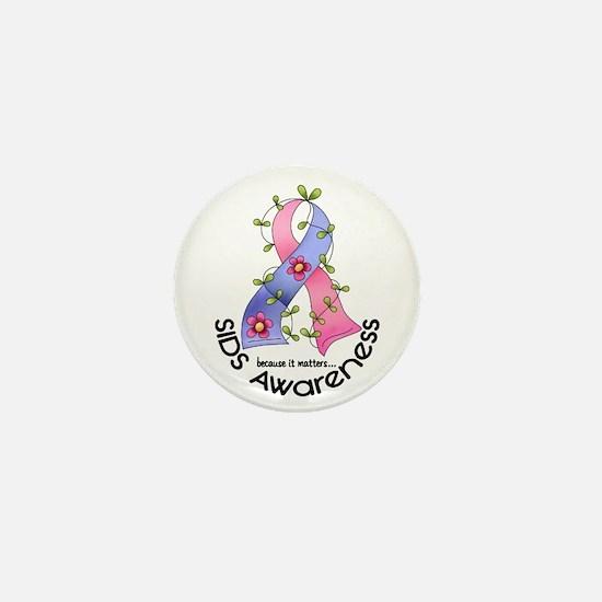 Flower Ribbon SIDS Mini Button