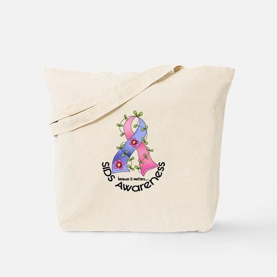 Flower Ribbon SIDS Tote Bag