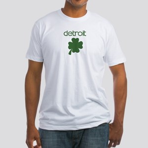 Detroit shamrock Fitted T-Shirt