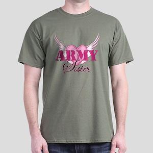 Army Sister Wings Dark T-Shirt