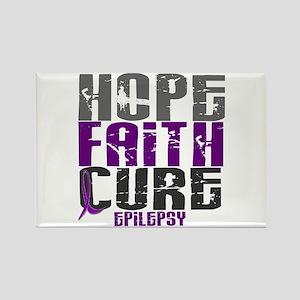 HOPE FAITH CURE Epilepsy Rectangle Magnet