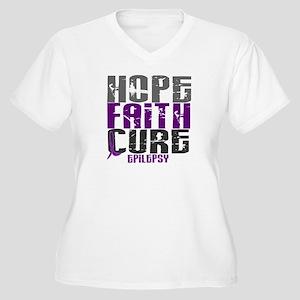 HOPE FAITH CURE Epilepsy Women's Plus Size V-Neck