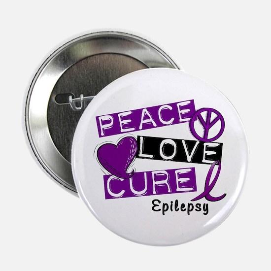 "PEACE LOVE CURE Epilepsy (L1) 2.25"" Button"