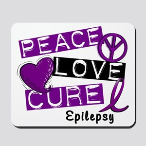 PEACE LOVE CURE Epilepsy (L1) Mousepad