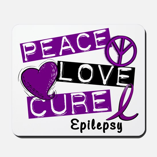 PEACE LOVE CURE Epilepsy (L1) Mousepad