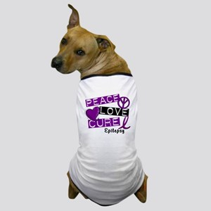 PEACE LOVE CURE Epilepsy (L1) Dog T-Shirt