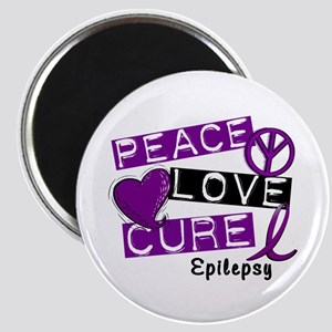 PEACE LOVE CURE Epilepsy (L1) Magnet