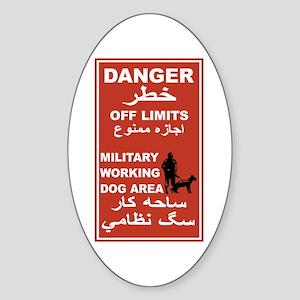 Danger Off Limits, Afghanistan Oval Sticker