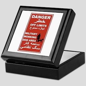 Danger Off Limits, Afghanistan Keepsake Box