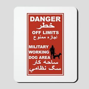 Danger Off Limits, Afghanistan Mousepad