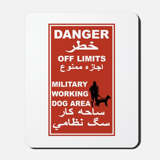 Danger Off Limits, Afghanistan Mousepad