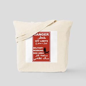 Danger Off Limits, Afghanistan Tote Bag