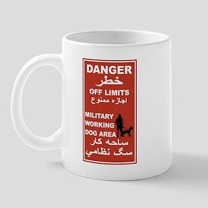 Danger Off Limits, Afghanistan Mug