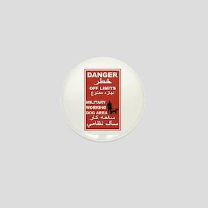 Danger Off Limits, Afghanistan Mini Button