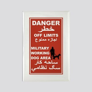 Danger Off Limits, Afghanistan Rectangle Magnet
