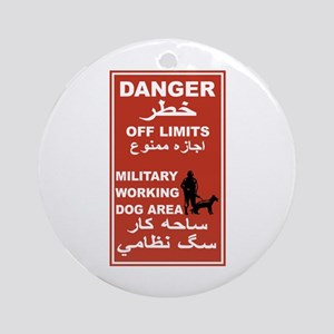 Danger Off Limits, Afghanistan Ornament (Round)