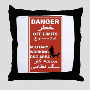 Danger Off Limits, Afghanistan Throw Pillow