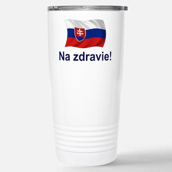 Slovak Na Zdravie! Stainless Steel Travel Mug