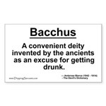 Bacchus... Rectangle Sticker