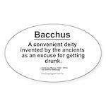 Bacchus... Oval Sticker
