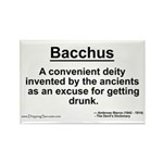 Bacchus... Rectangle Magnet