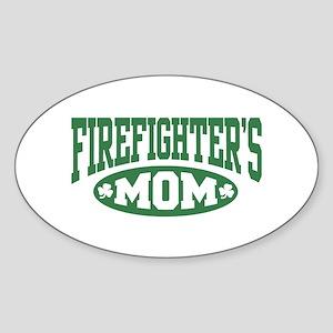 Irish Firefighter's Mom Oval Sticker