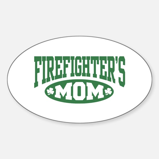Irish Firefighter's Mom Oval Decal