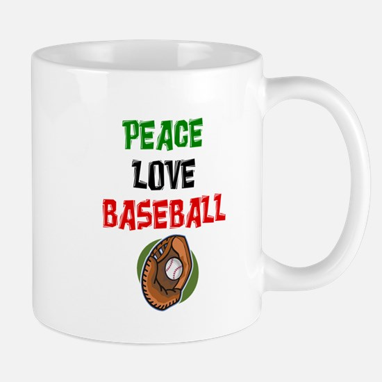 PEACE, LOVE, BASEBALL Mug