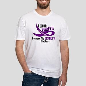 I Wear Purple (Grandpa) 33 PC Fitted T-Shirt