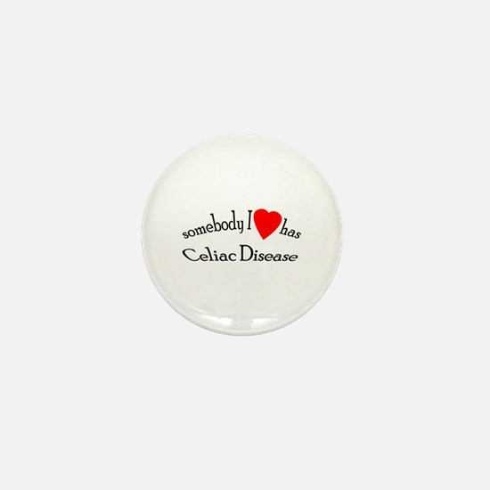 somebody I heart Celiac Dise Mini Button