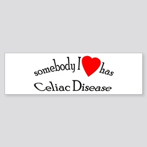 somebody I heart Celiac Dise Bumper Sticker