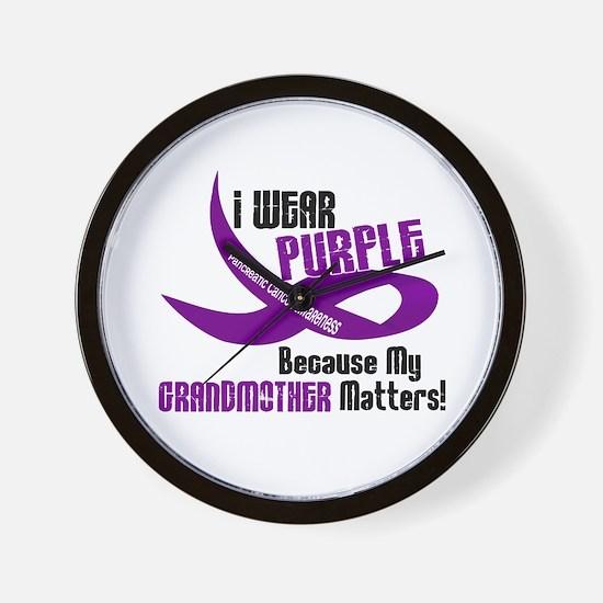 I Wear Purple (Grandmother) 33 PC Wall Clock