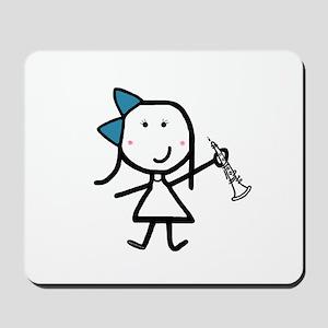 Girl & Oboe Mousepad
