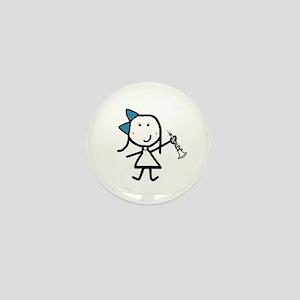 Girl & Oboe Mini Button