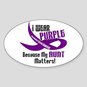 I Wear Purple (Aunt) 33 PC Oval Sticker