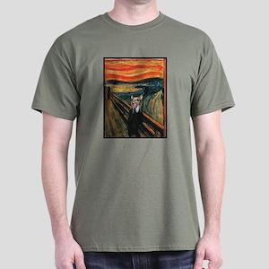 Chihuahua Scream Munch Dark T-Shirt